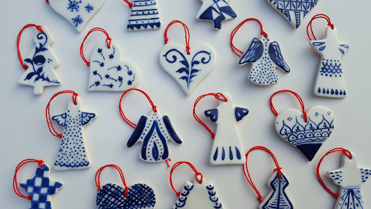painted porcelain christmas decorations 15